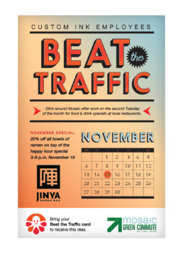 Beat The Traffic Poster