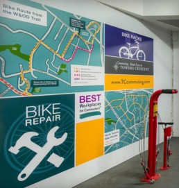 Garage Bike Station Graphic