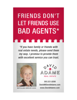 Bad Agent Postcard