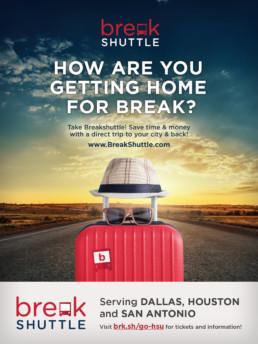BreakShuttle Luggage Poster