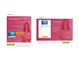 Adroit Email and Landing Page