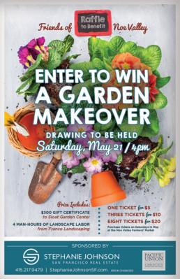 Garden Tour Raffle Poster